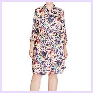 Ralph Lauren Georgette Drawstring Multi Dress